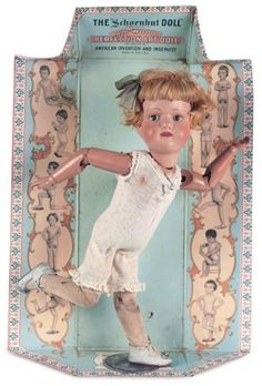 Let The Little Lambs Play : 77 An All-Original American Carved Wooden Doll by Schoenhut