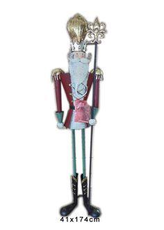 Xmas nutcracker. XL Χριστουγεννιάτικος μάγος με σκήπτρο, 174 cm