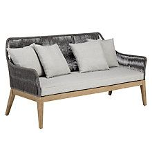 This would also look good inside. A bit firm, but could have softer seat pad. Looks much better in reality than this pic! Buy John Lewis Leia 3 Seater Sofa, FSC-Certified (Eucalyptus Grandis), Grey Online at johnlewis.com