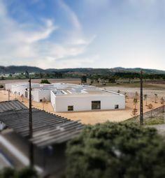 Aires Mateus   High School in Abrantes, Portugal © Fernando Guerra, FG+SG Architectural Photography