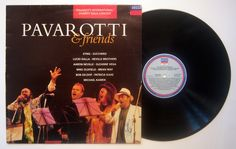 Mike Oldfield / LP Pavarotti And Friends GR: 440100-1 Decca label Mike plays Sentinel
