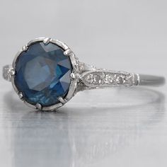 i promise i'm not a crazy girl, but i saw this and its so pretty i had to pin it... antique saphire