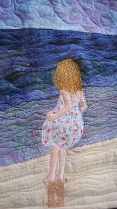 By the sea, mini quilt  http://wonkypatchwork.blogspot.co.uk/