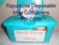 Cloth Wipe Container