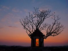 Hanuman Temple, India Photograph and story by Lorne Warburton Image was shot in Hampi, India at sunset of a very small Hanuman temple at the edge of town. Was able to balance the low light of the temple with the setting sun and silhouette the trees. Beautiful Landscape Photography, Beautiful Landscapes, Nature Photography, Bordeaux, Hampi India, India India, Karnataka, Flag India, Beautiful World