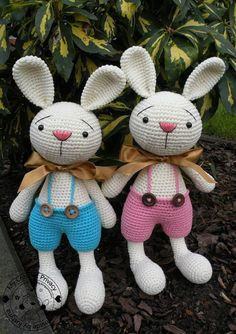 Elroy and Melvin the Bunnies crochet pattern by MyCrochetPrivacy, pdf $6.  This is a very large toy.