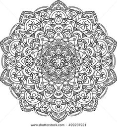 Beautiful ornate vector mandala illustration. Monochrome vintage mandala ornament for coloring books