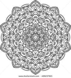 Beautiful ornate vector mandala illustration. Monochrome vintage mandala ornament for coloring books