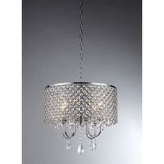 Warehouse Of Tiffany Chandelier Ceiling Lights -Silver