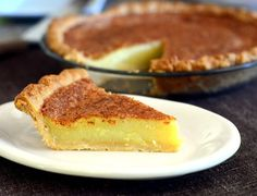 A Southern Classic: Chess Pie