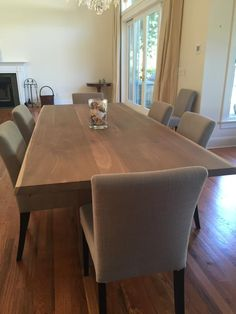 Steppe Solid Wood Dining Table - Crate and Barrel   Wood dining ...