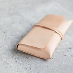 Vegetable-tanned leather Pencil Case/Pen Pouch/ by EarthyLeather                                                                                                                                                                                 More
