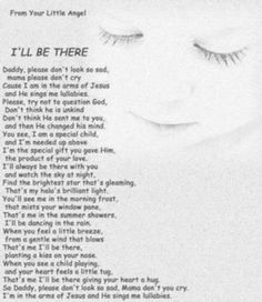 what my daughter would have said if she had spoke i love you Lillyanna! RIP mommy and daddy love you