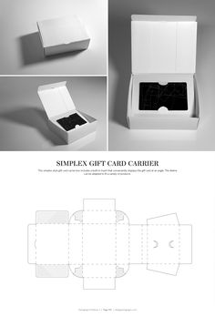 Simplex Gift Card Carrier – structural packaging design dielines