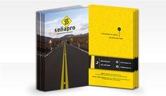 SEÑAPRO: Diseño de logotipo para empresa dedicada al señalamiento vial.
