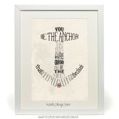 You be the anchor  Nautical Typography Poster  by wordsdesignlove, £12.00