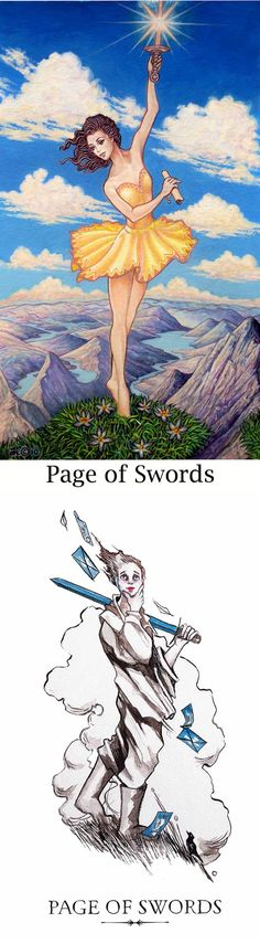 Page of Swords: curiosity and overenthusiasm leading to rushed/poor planning (reverse). Sacredisle Tarot deck and Linestrider Tarot deck: one card love tarot, tarotdice and free tarot cards. New spell book diy and tarot. #hermit #oldways #selfempowerment #ios #hierophant