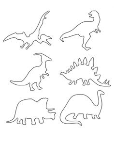 Multiple Dinosaur Stencils Printable Crafts
