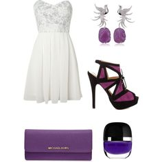 A fashion look from September 2014 featuring TFNC dresses, JustFabulous shoes and MICHAEL Michael Kors wallets. Browse and shop related looks.