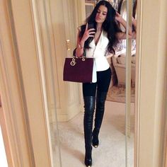 How to wear over knee boots and look chic: http://jetsetbabe.com/how-to-wear-over-knee-boots-look-chic