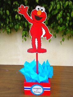 Sesame Street Elmo Birthday or baby shower centerpiece decoration