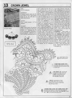 Decorative Crochet Magazines 45 - Gitte Andersen - Álbuns da web do Picasa Diy Crochet Doilies, Crochet Stitches Free, Crochet Doily Diagram, Crochet Doily Patterns, Crochet Tablecloth, Lace Doilies, Crochet Chart, Thread Crochet, Filet Crochet