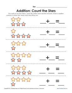 Worksheets Number Sentence Worksheets number sentence superstar addition money free printables and your student can count the stars create in this worksheet