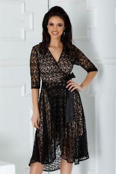 Wrap Dress, Short Dresses, Satin, Dresses With Sleeves, Long Sleeve, Fashion, Dress, Short Gowns, Moda