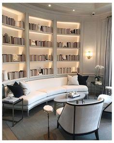 Comfortable Living Rooms, Elegant Living Room, My Living Room, Cozy Living, Clean Living, Small Living, Bookshelf Living Room, Fancy Living Rooms, Living Spaces