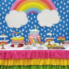 Easy healthy breakfast ideas on the good day song Rainbow Party Decorations, Rainbow Parties, Rainbow Birthday Party, Rainbow Theme, Unicorn Birthday, Unicorn Party, 1st Birthday Parties, Birthday Party Decorations, Ball Birthday