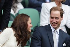 Prince William and Kate having fun at Wimbledon