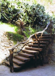 awesome backyard stairway