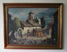 Quadro DURVAL PEREIRA - Ouro Preto - 1970 - óleo sobre tela - 58 X 79cm (com moldura: 75 x 95cm)