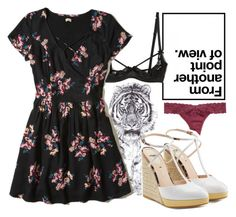 """""""Floral Dress"""" by sammi-mo ❤ liked on Polyvore featuring Jane Lee McCracken, Fleur du Mal, Hollister Co. and Fendi"""
