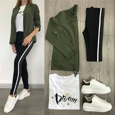Which combination do you prefer? Don't forget to tag your friends you want to see. Outfit Jeans, Casual Hijab Outfit, Mode Outfits, Jean Outfits, Trendy Outfits, Girl Outfits, Fashion 2020, Teen Fashion, Korean Fashion