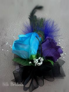 Hey, I found this really awesome Etsy listing at https://www.etsy.com/listing/176210564/turquoise-purple-roses-wrist