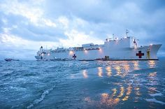 PACIFIC OCEAN (July 13, 2015) The Military Sealift Command hospital ship USNS Comfort (T-AH 20) sits anchored off the coast of Colombia during Continuing Promise 2015.