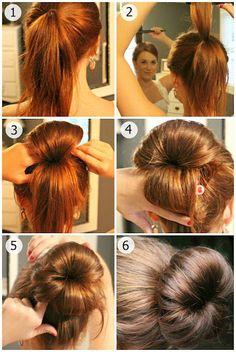 Model coiffure comment faire un chignon