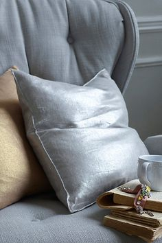 Shimmering Sunset Pillow #anthropologie - sofa, silver or chanel in size small