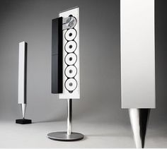 Bang and Olufsen limited edition BeoSound 9000 music system and a white pair of BeoLab 8000 column loudspeakers on auction Audio Design, Sound Design, Home Speakers, Bang And Olufsen, Music System, Ideas Geniales, Hifi Audio, Mint, Sound & Vision