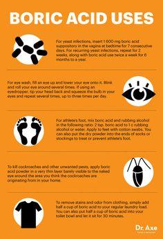 Boric acid uses - Dr. Axe http://www.draxe.com #health #holistic #natural