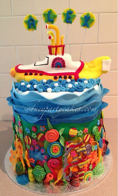 The Beatles Yellow Submarine cake and Octopus Garden