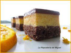 Cuadrados de Naranja y Chocolate | La Repostería de Miguel