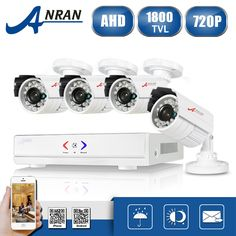 ANRAN 4CH CCTV System 720P HDMI AHD DVR 4PCS 1.0 MP IR Night Vision Outdoor Security Camera HD Video Surveillance System #CLICK! #clothing, #shoes, #jewelry, #women, #men, #hats, #watches