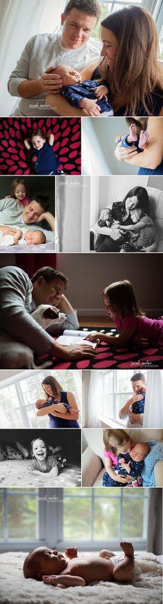 Lifestyle newborn photo session