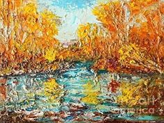 River Fall by Jodi Monahan in the FASO Daily Art Show www.jodimonahanartistry.com