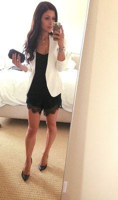 Dressy / Summer   Lace Shorts n Blazer
