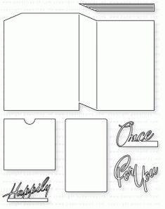 Papertrey Ink - Book Cover Card Die