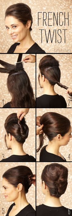 probably the best french twist hairdo how-to I've seen for long hair