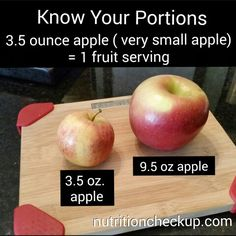 What 1 fruit serving looks like: APPLE #knowyourportions